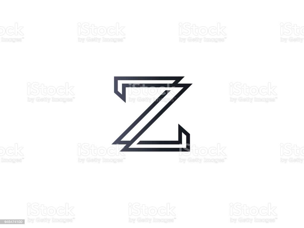 Initial Letter Z Icon Template Alphabet Symbol For Corporate