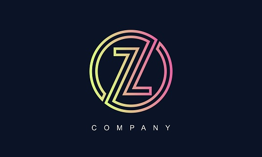 Initial Letter Z Logo With Creative Circle Monogram Business Typography Vector Template