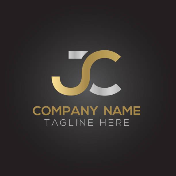 Initial Linked Letter JC Logo Design Creative letter JC Logo Design Vector Template. Initial Linked Letter JC Logo Design letter j stock illustrations