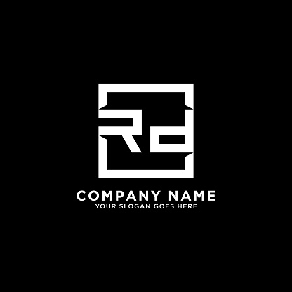 RD initial logo inspiration,clean square logo template