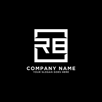 RB initial logo inspiration,clean square logo template