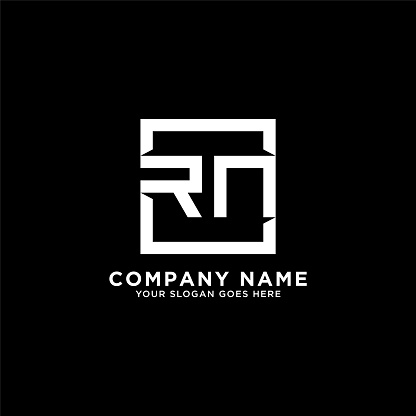 RN initial logo inspiration,clean square logo template