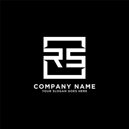 RS initial logo inspiration,clean square logo template