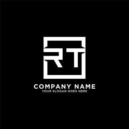 RT initial logo inspiration,clean square logo template