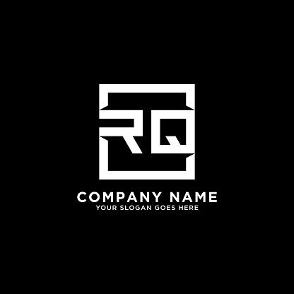 RQ initial logo inspiration,clean square logo template