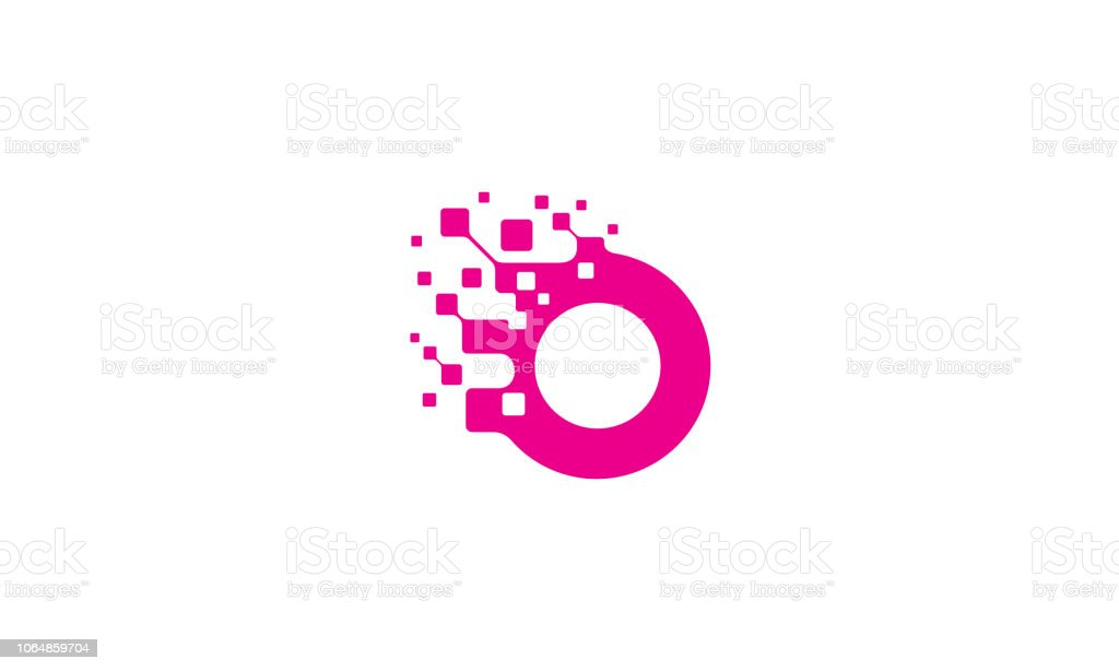 initial O logo icon vector technology royalty-free initial o logo icon vector technology stock illustration - download image now