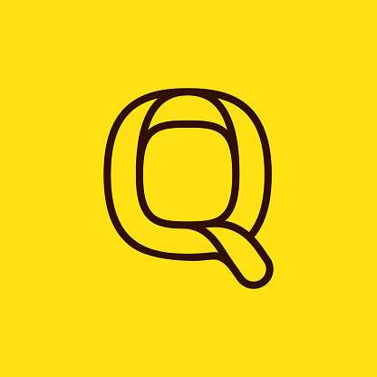 Initial Q modern line monogram and elegant logo design.