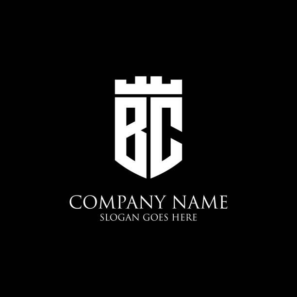 BC logo bouclier initial design Inspiration, crown royal logo template - facile à utiliser pour votre logo - Illustration vectorielle