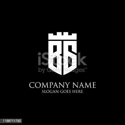 BG initial shield logo design Inspiration, crown royal logo vector - easy to used for your logo