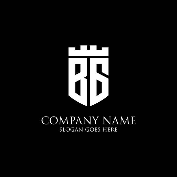 BG logo bouclier initial design Inspiration, modèle de logo royal couronne - facile à utiliser pour votre logo - Illustration vectorielle
