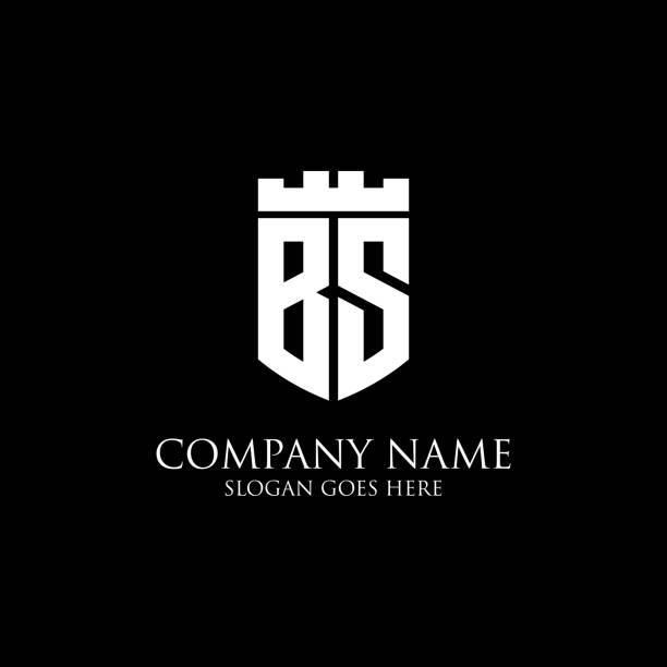 BS logo bouclier initial design Inspiration, modèle de logo royal couronne - facile à utiliser pour votre logo - Illustration vectorielle