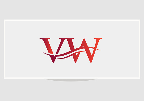 Initial VW letter business logo design vector template
