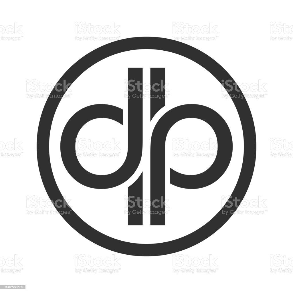 Dp Initials Custom Unlimited Circular Symbol Design Stock Vector Art