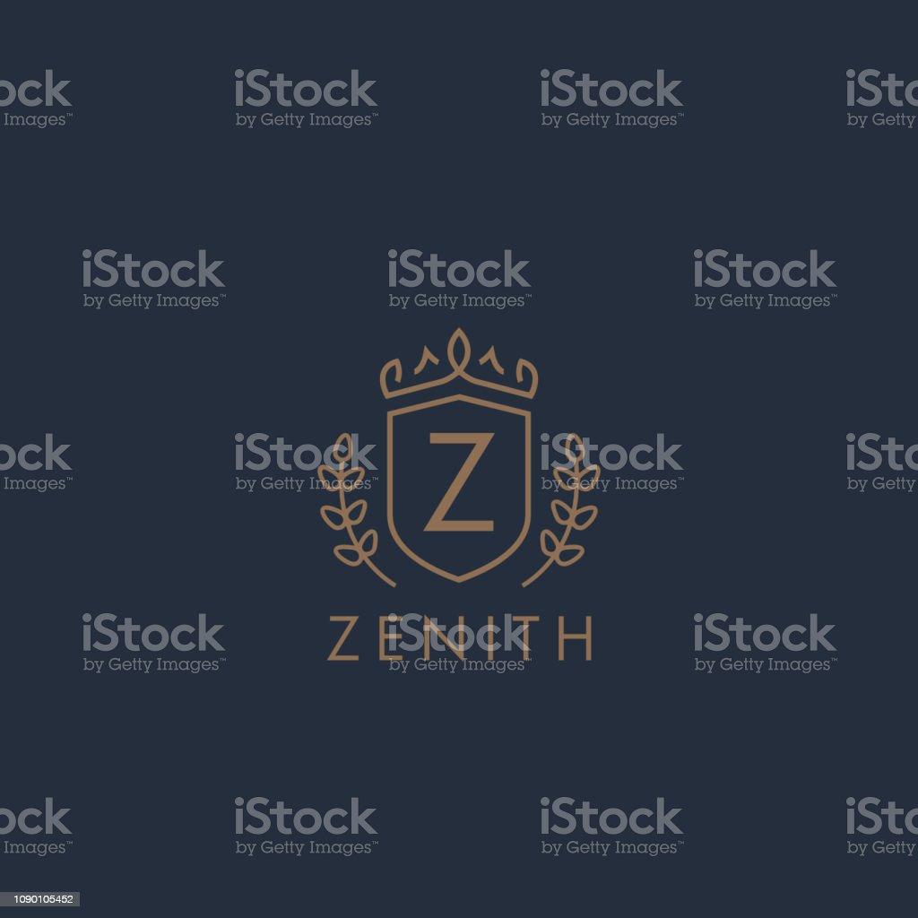 Initials type letter Z elegant luxury brand identity badge template....