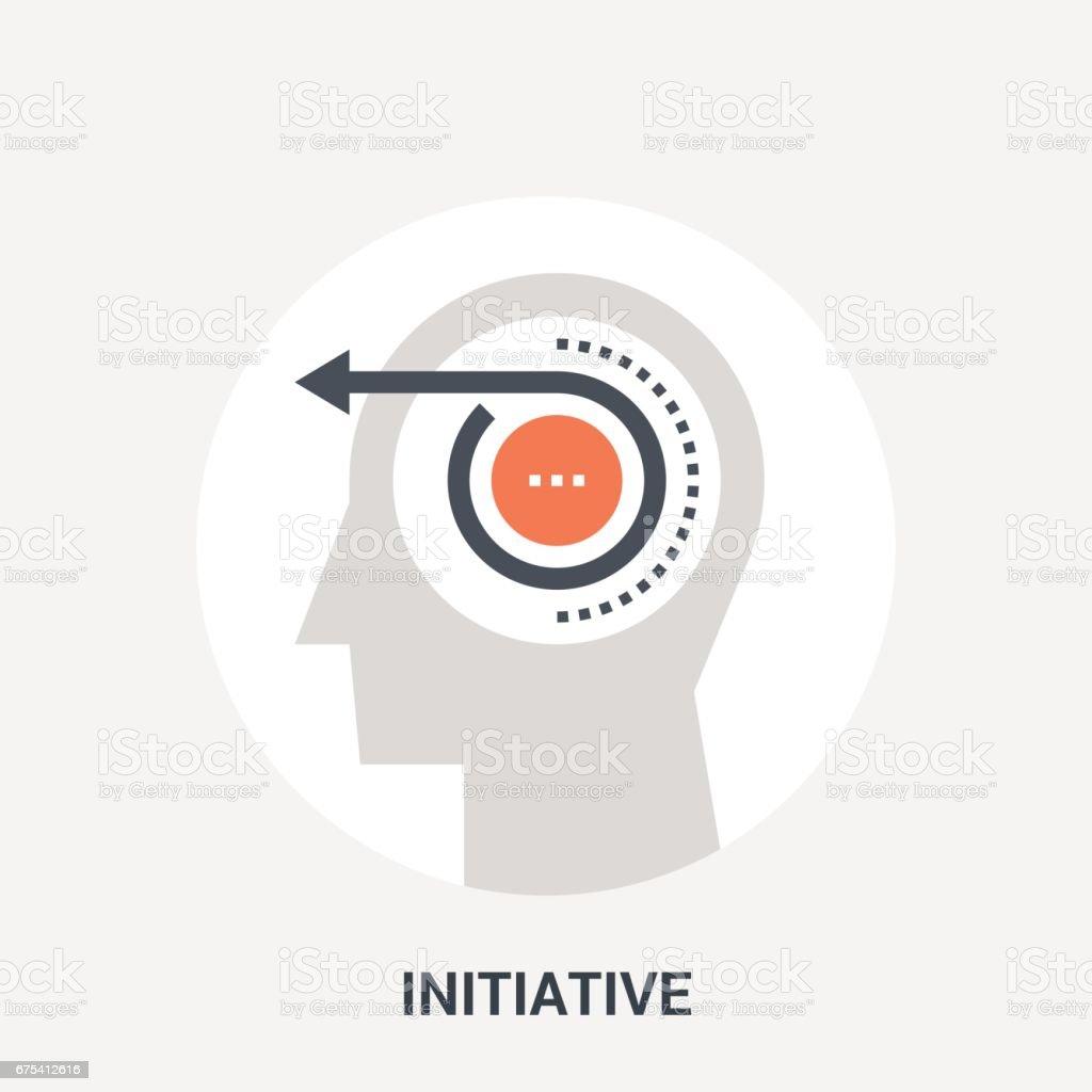 initiative icon concept vector art illustration