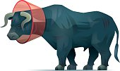 vector character of injured bull…