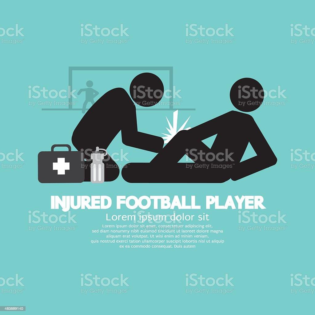 Injured Football Player vector art illustration