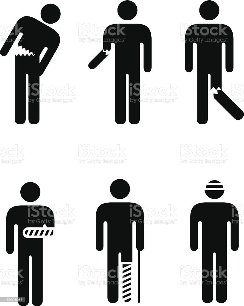Injuries vector art illustration