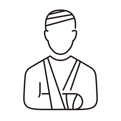Injury and bandage vector icon