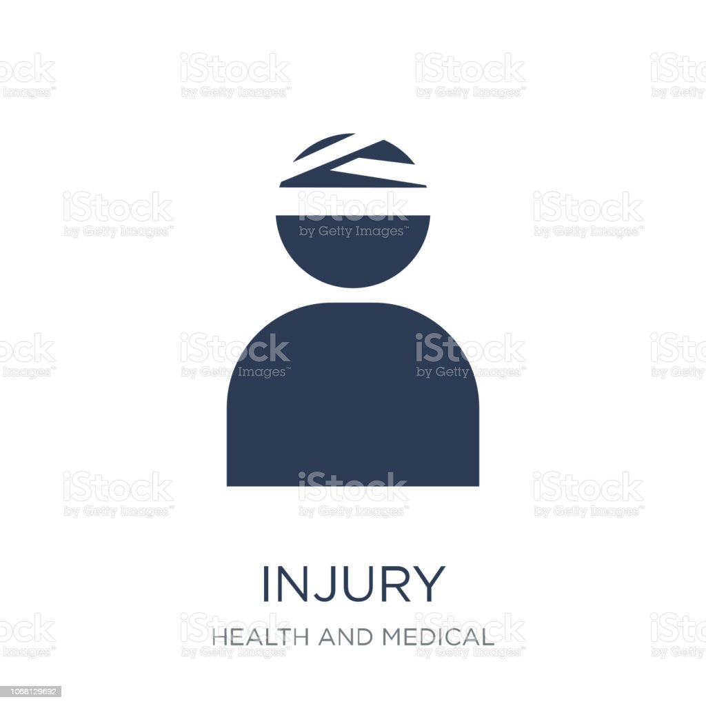 Injury icon. Trendy flat vector Injury icon on white background from Health and Medical collection vector art illustration