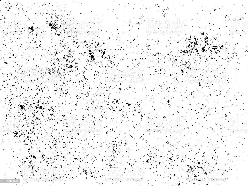 Ink blots fondo urbano Grunge. Vector textura. Polvo recubrimiento grano de angustia. . Pintura negro salpicado, sucio, cartel su diseño. Ilustración de dibujo de mano - ilustración de arte vectorial