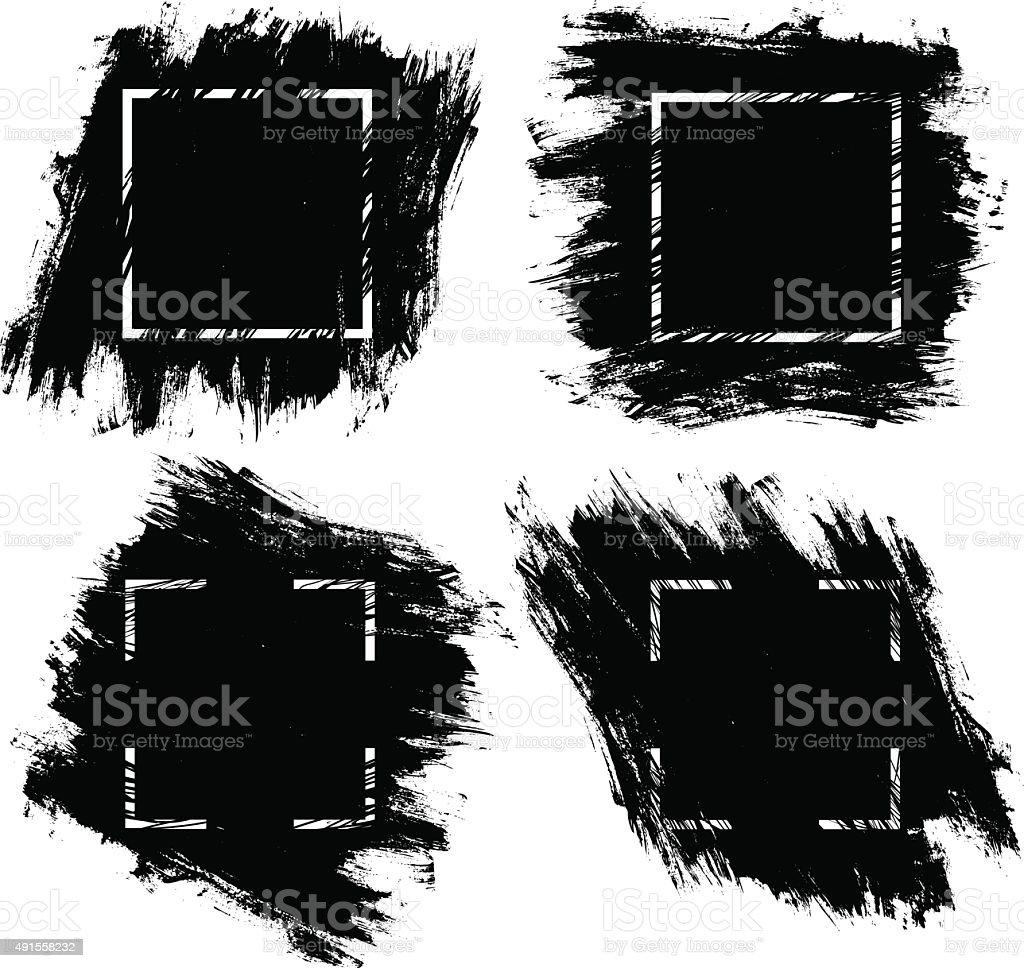 Tinta pincel pinceladas - ilustración de arte vectorial