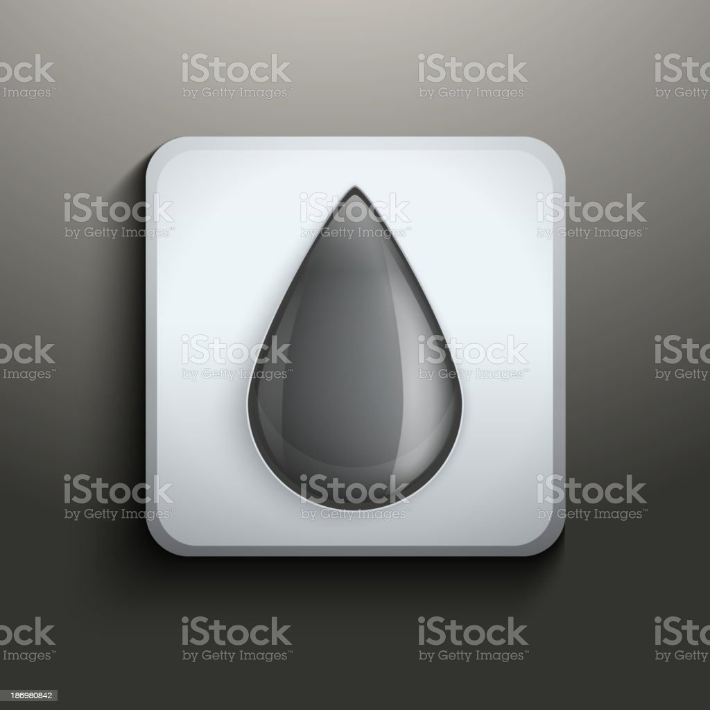 Ink button with black drop royalty-free stock vector art