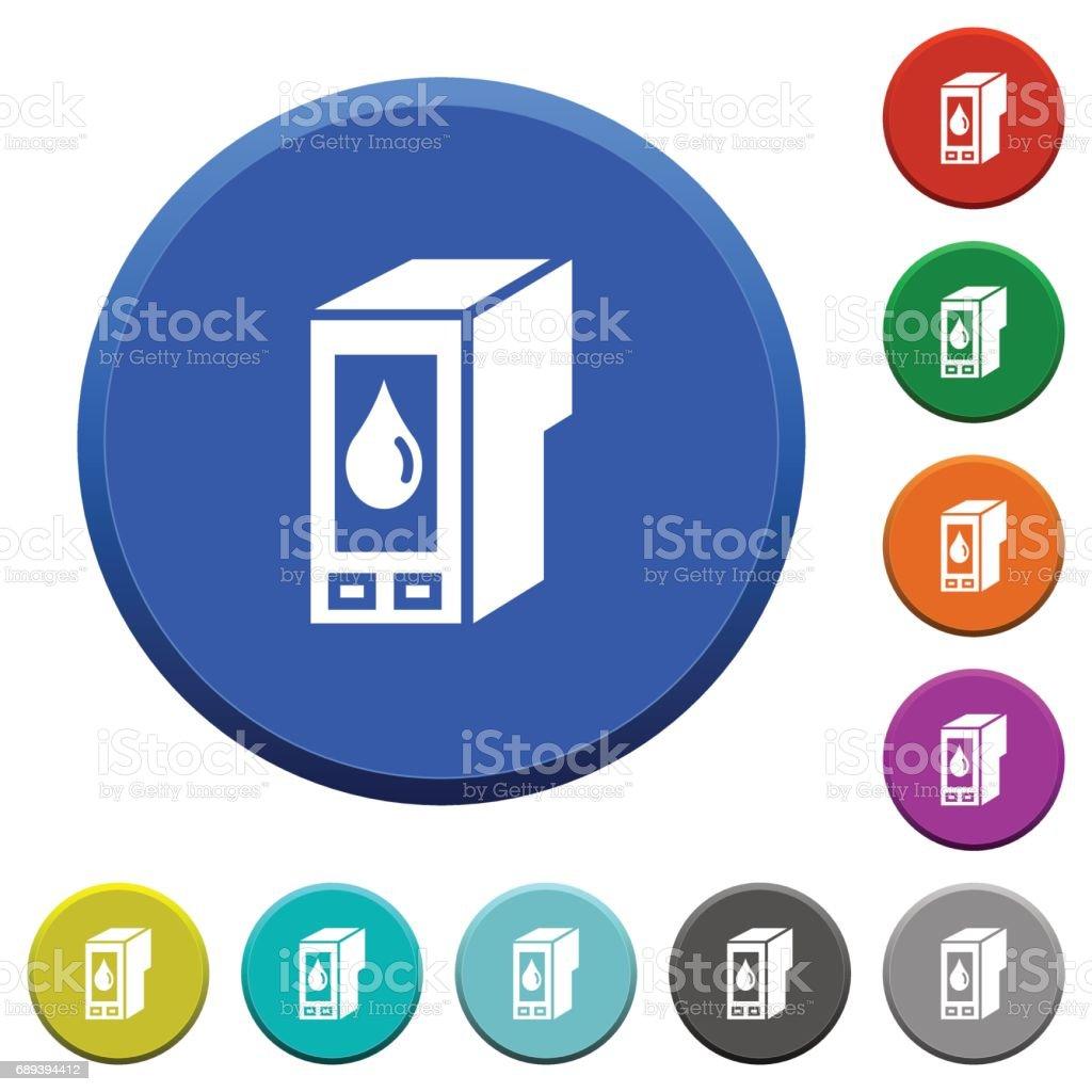 Ink cartridge beveled buttons vector art illustration