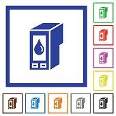 istock Ink cartridge framed flat icons 657154376
