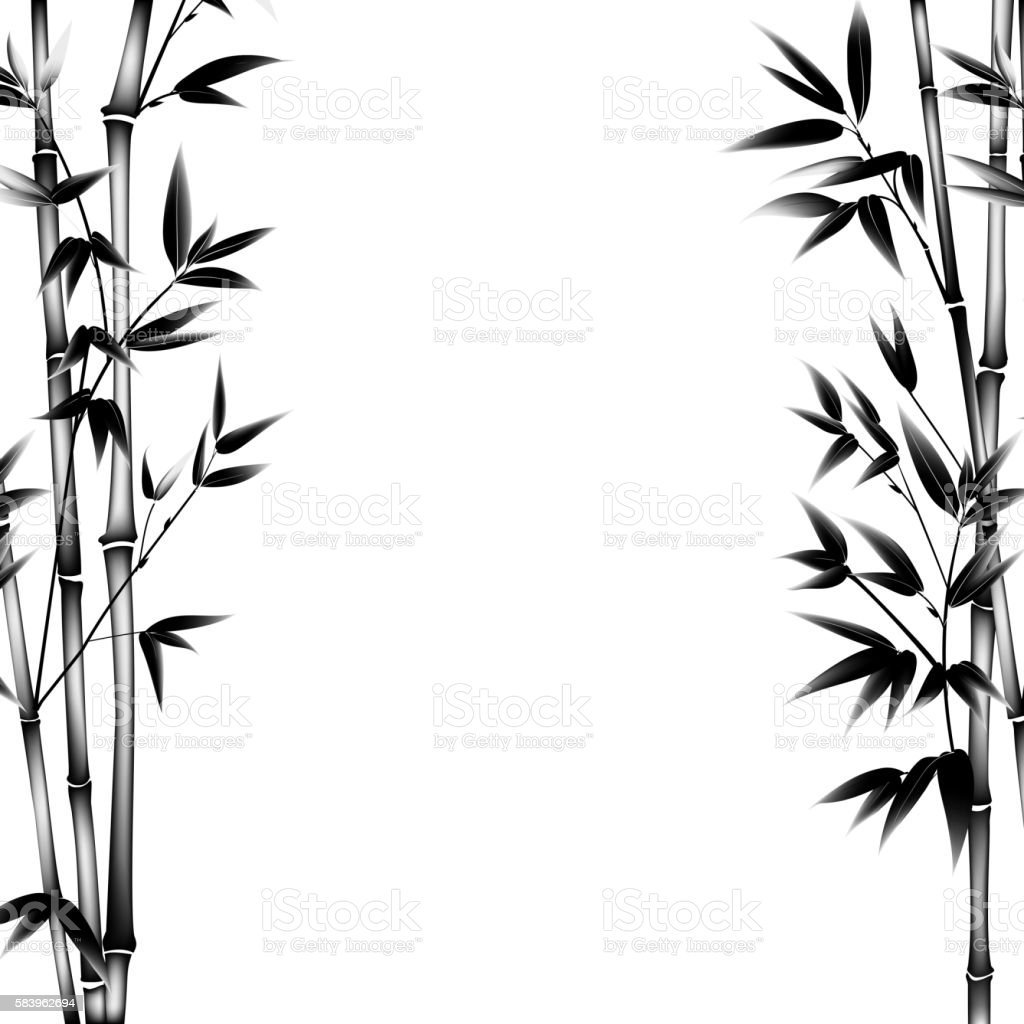 ink paint bamboo stock vector art more images of art 583962694 rh istockphoto com bamboo vector illustration bamboo vector free