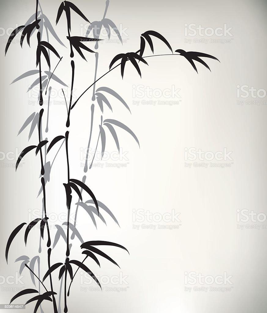 Tinte Painted Bambus Stock Vektor Art Und Mehr Bilder Von Aquarell