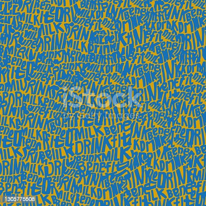 istock ink pattern, vectorized. decorative letters 1305775508