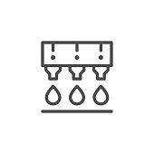 istock Ink printing line icon 1140618007