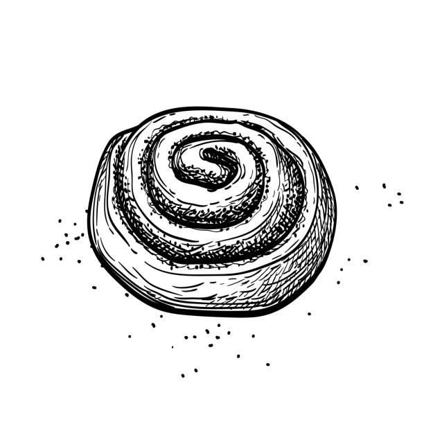 Cinnamon Rolls Clipart - Bread Roll, HD Png Download - vhv