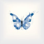 ink splashes butterfly