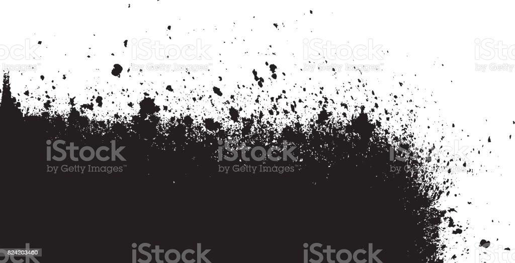 bläck splat, svart, vektor, hörnet titel, hörnet signering, hörnet header vektorkonstillustration