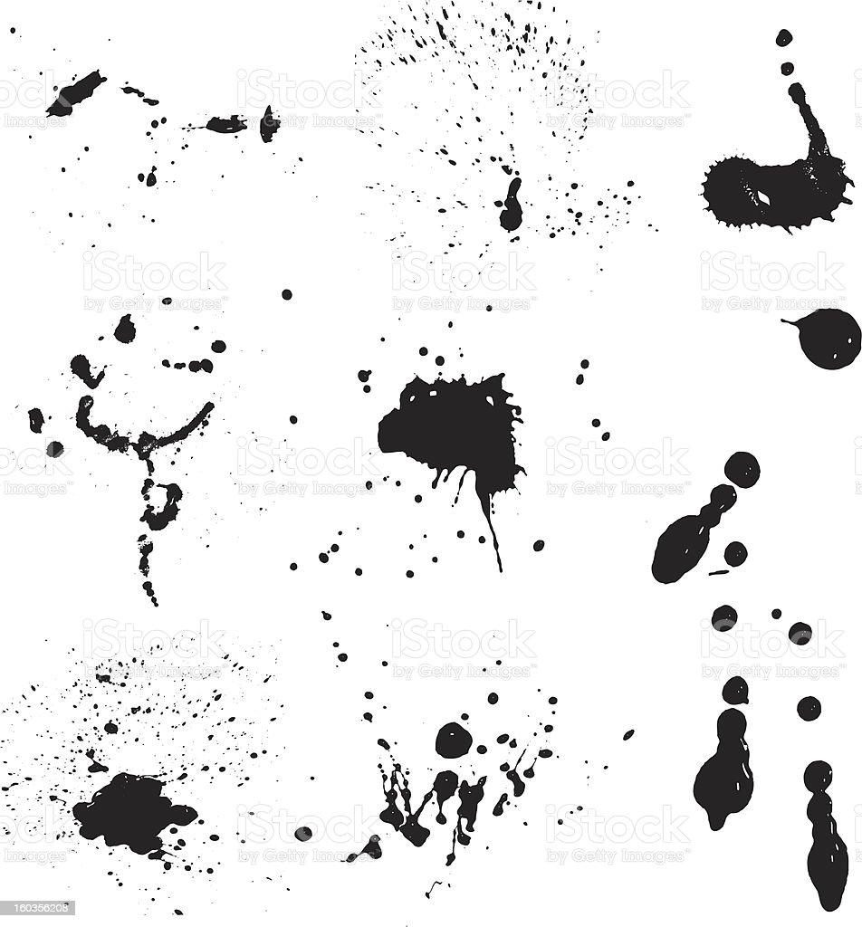 Ink splats - vector royalty-free stock vector art