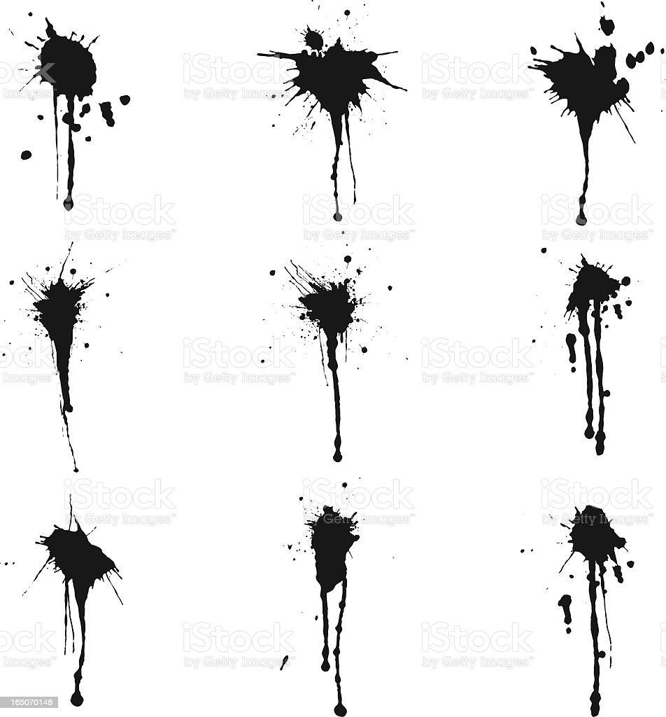 ink splatter III vector art illustration