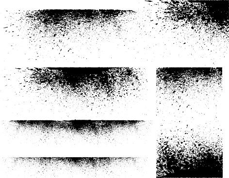 ink stains border frame composition