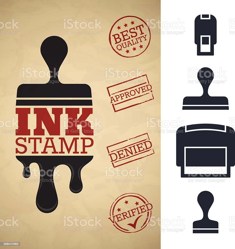 Ink Stamper vector art illustration