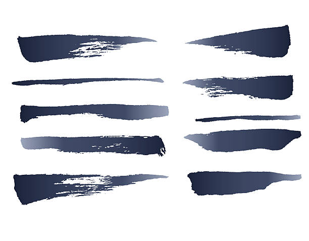 ilustraciones, imágenes clip art, dibujos animados e iconos de stock de ink vector brushes - marcos grunge