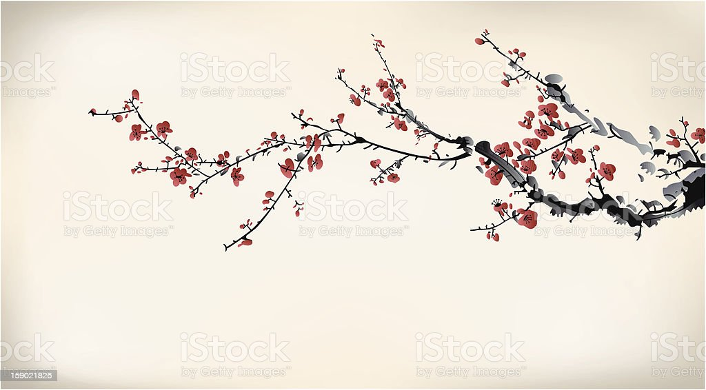 ink winter sweet vector art illustration