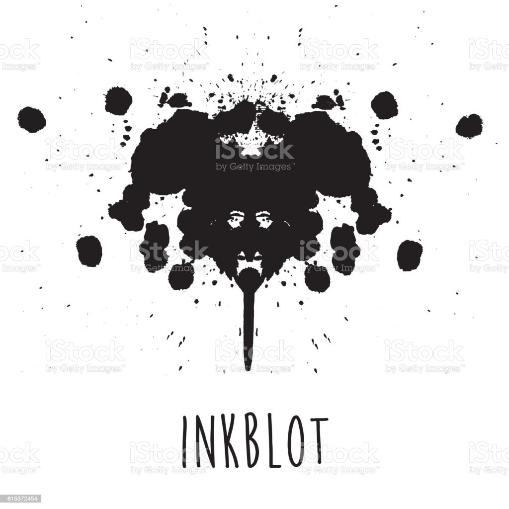 Inkblot Illustration Stock Illustration