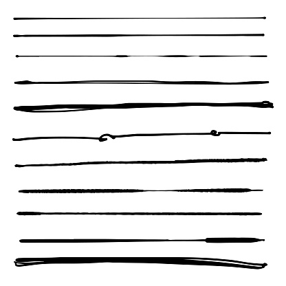 Vector illustration of a collection of pencil and inking brushes. Design element great for art and creativity projects, ideas and concepts.
