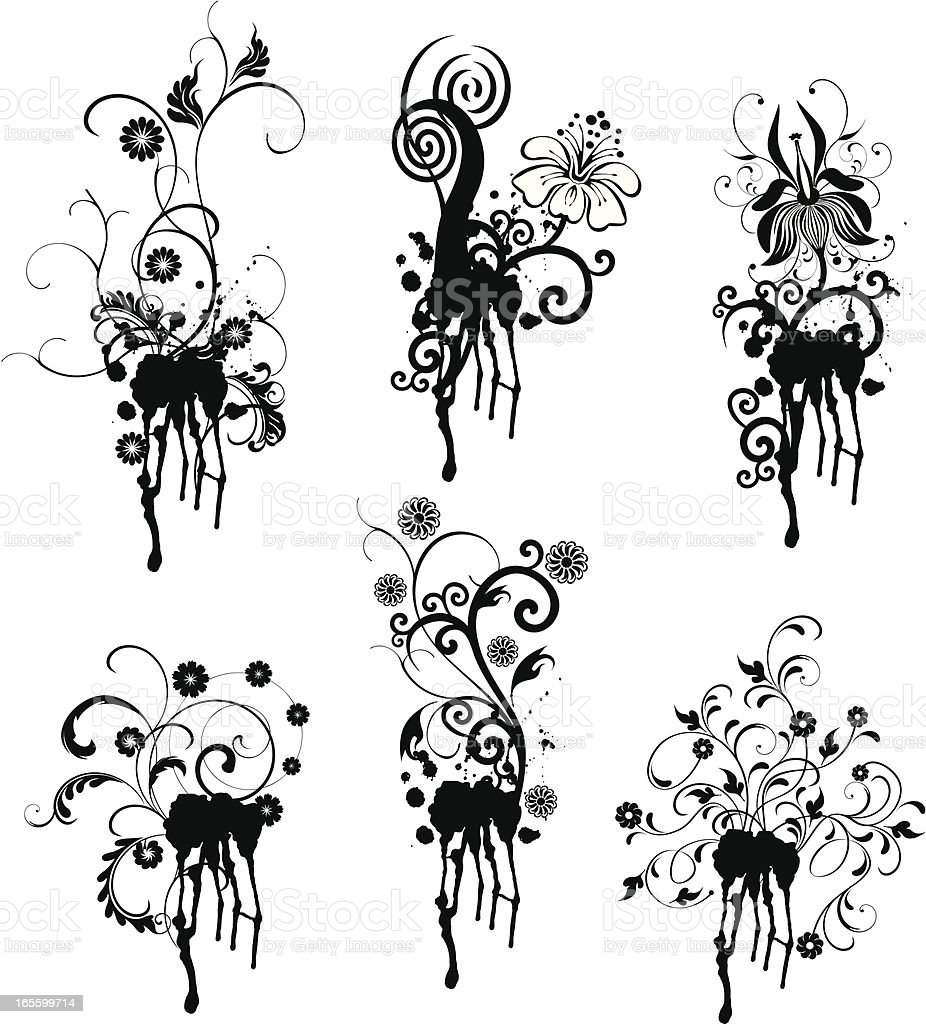 Inks on Paper royalty-free stock vector art
