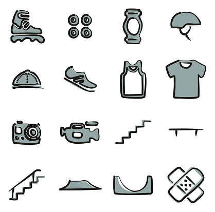 Inline Icons Freehand 2 Color
