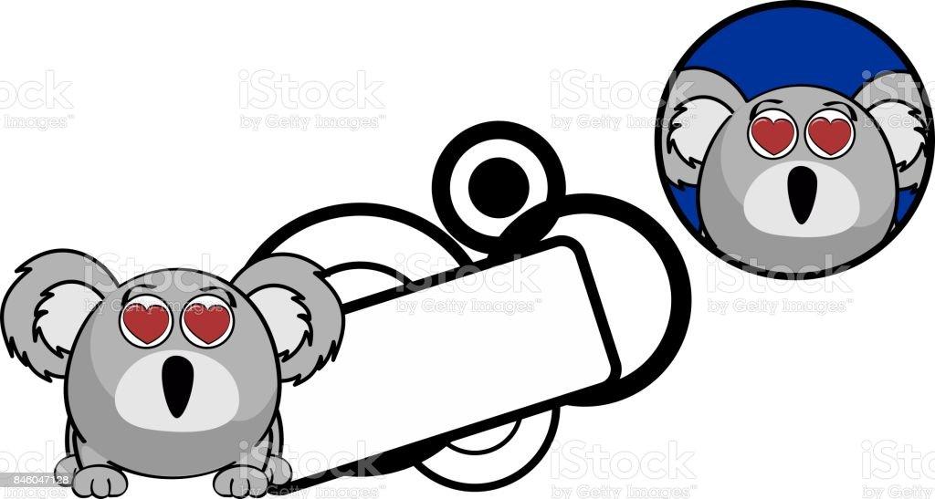Ilustración De Enamorados Pelota Koala Dibujos Animados Expresión
