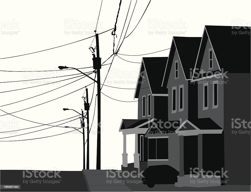Inner City Vector Silhouette royalty-free inner city vector silhouette stock vector art & more images of city