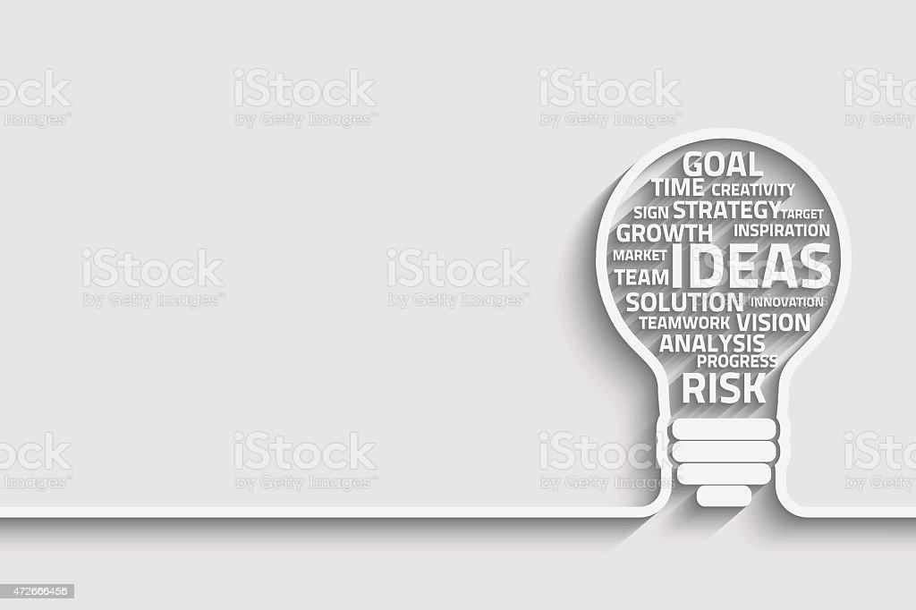 Innovate bulb vector art illustration