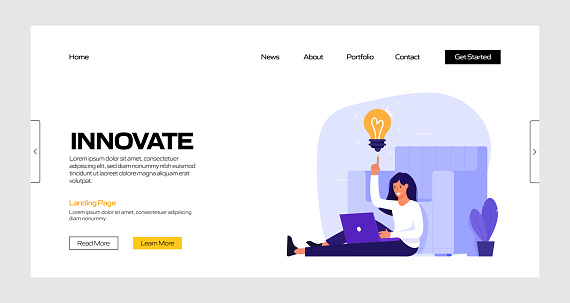Innovate Concept Vector Illustration for Landing Page Template, Website Banner, Advertisement and Marketing Material, Online Advertising, Business Presentation etc.